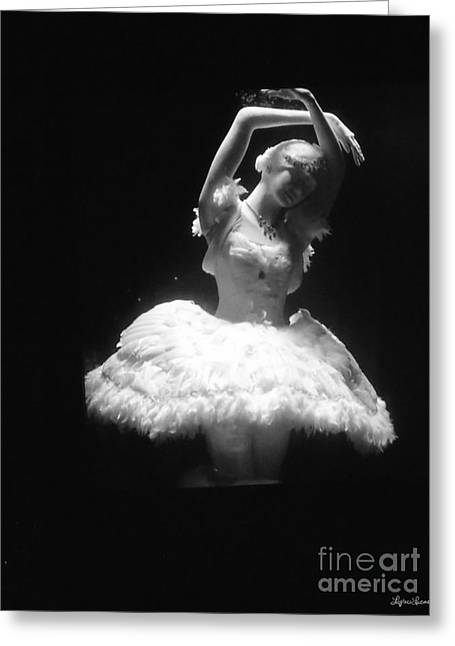 White Ballerina Greeting Card