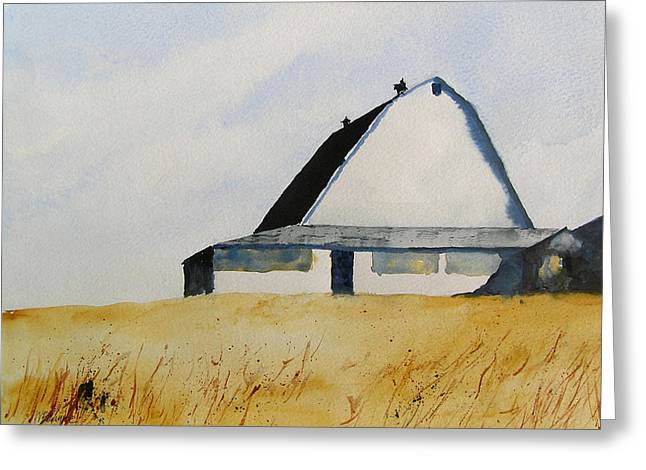 White Barn Greeting Card by William Beaupre