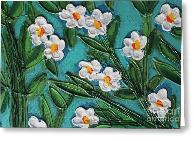 White Blooms 2 Greeting Card