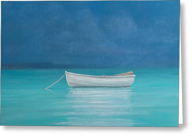 White Boat Kilifi  Greeting Card by Lincoln Seligman
