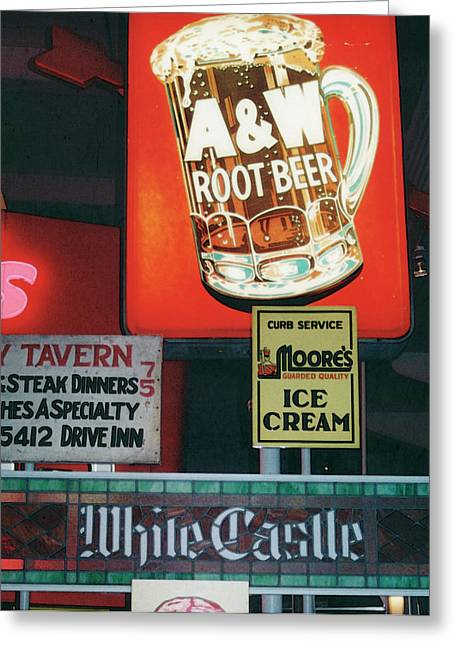 White Castle A And W Greeting Card by Mary Bedy