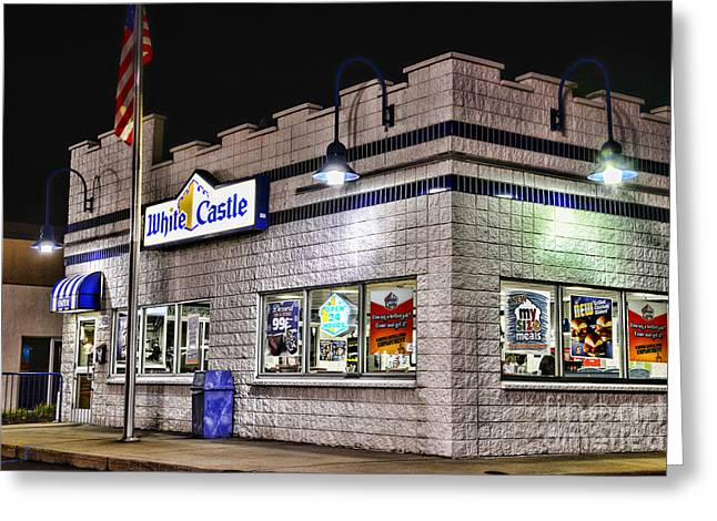 White Castle Greeting Card by Paul Ward