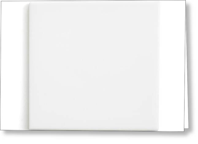 White Ceramic Dissecting Tile Greeting Card by Science Photo Library