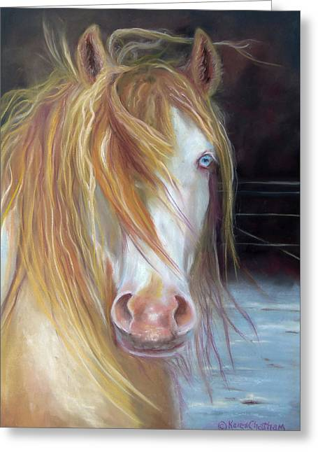 White Chocolate Stallion Greeting Card