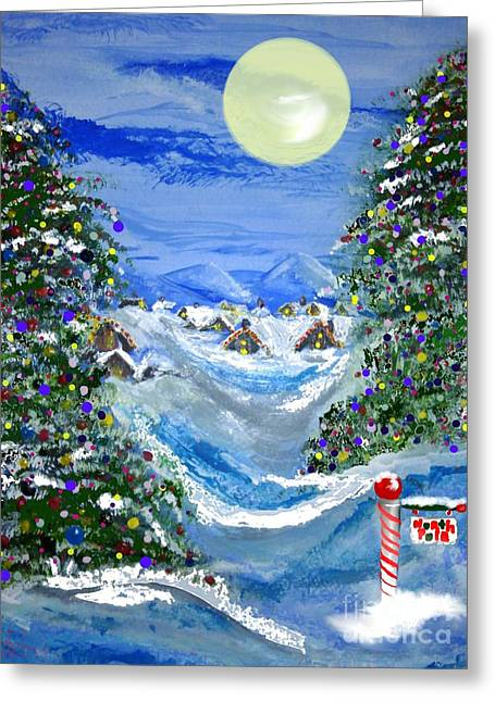 White Christmas At The North Pole Greeting Card by Lori  Lovetere