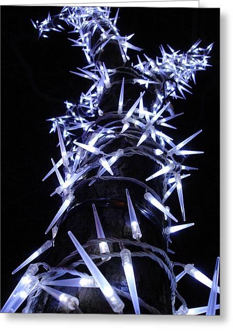 White Christmas Tree Greeting Card by Michel Mata