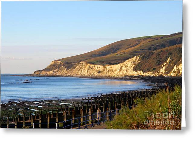 White Cliffs Of Eastbourne Beachy Head Greeting Card by Art Photography