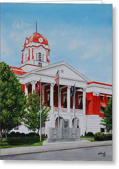 White County Courthouse - Veteran's Memorial Greeting Card