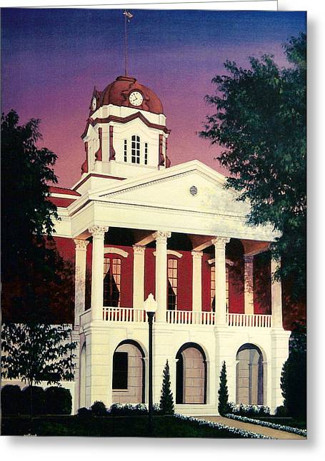 White County Courthouse Greeting Card