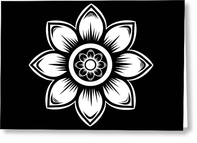 White Daisy Greeting Card by Chastity Hoff