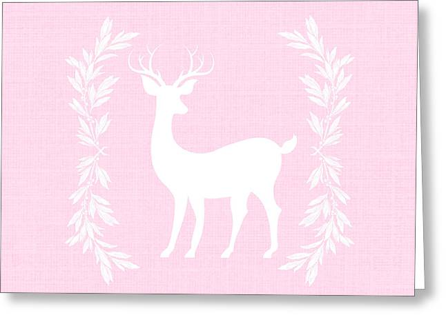 White Deer Greeting Card by Chastity Hoff