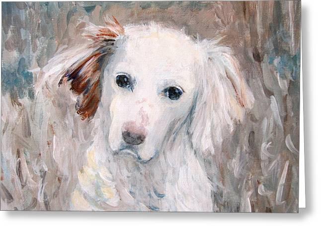 White Dog # 2 Greeting Card
