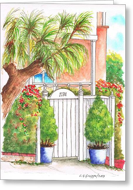 White Door In - West Hollywood - California Greeting Card