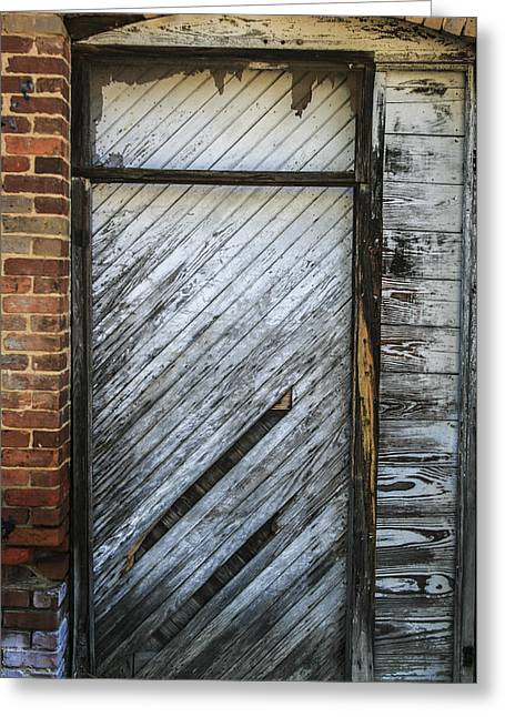 White Door Greeting Card by Steven  Taylor