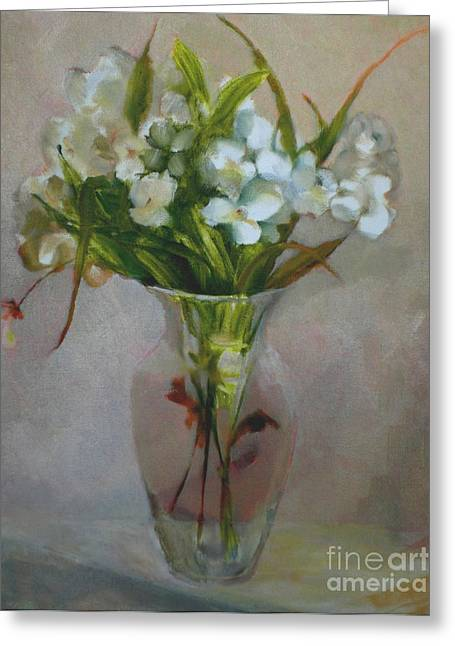 White Flowers        Copyrighted Greeting Card by Kathleen Hoekstra