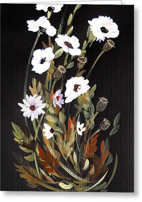 White Flowers Greeting Card by Dorothy Maier