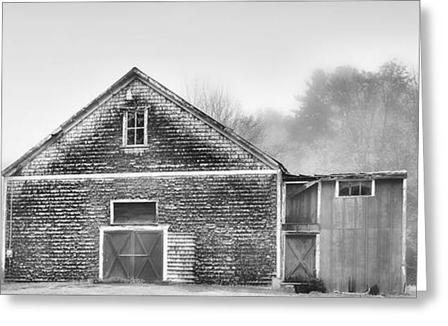 White Foggy Farm Greeting Card by Richard Bean