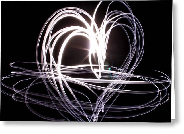 White Heart Greeting Card by Aya Murrells