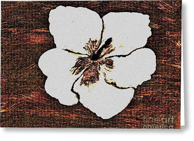 White Hibiscus Digital Painting Greeting Card by Marsha Heiken