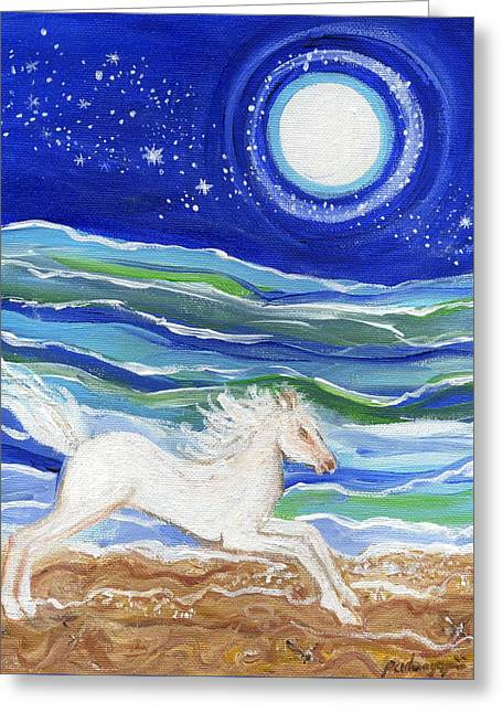 White Horse Of The Sea Greeting Card