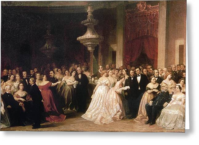 White House Reception, 1864 Greeting Card by Granger