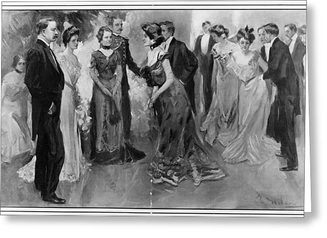 White House Reception, 1902 Greeting Card