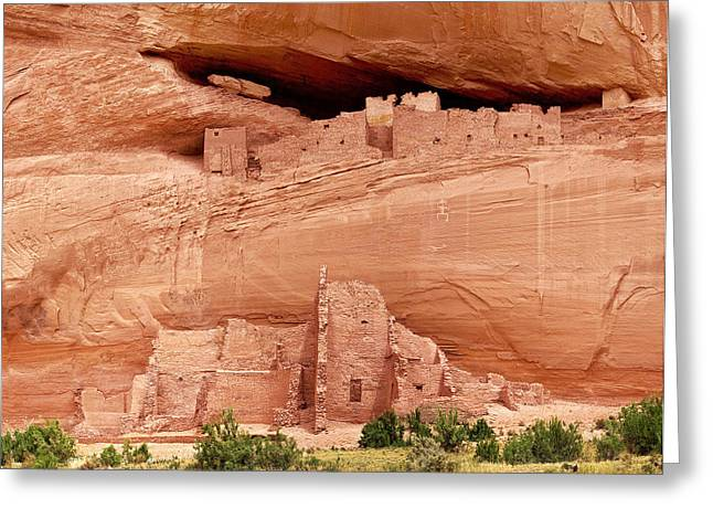 White House Ruins Canyon De Chelly Greeting Card