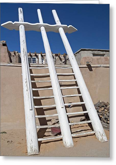 White Ladder Greeting Card