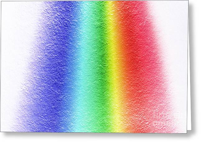 White Light Spectrum, Diffraction Greeting Card by GIPhotoStock
