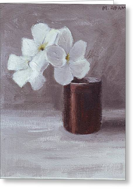 White Greeting Card by Mary Adam