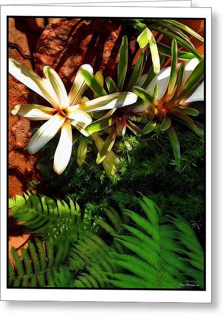 White Maui Flowers Greeting Card by Joan  Minchak