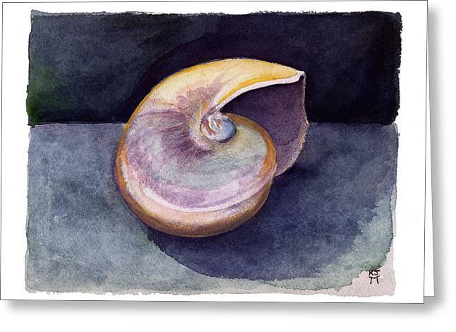 White Nautilus Greeting Card