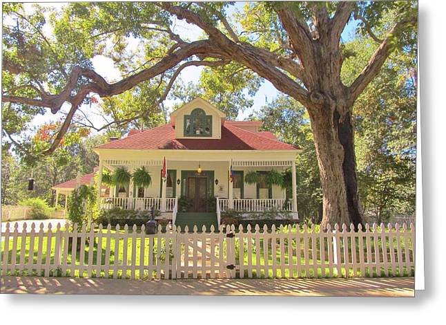 White Oak Manor Jefferson Texas Greeting Card by Donna Wilson