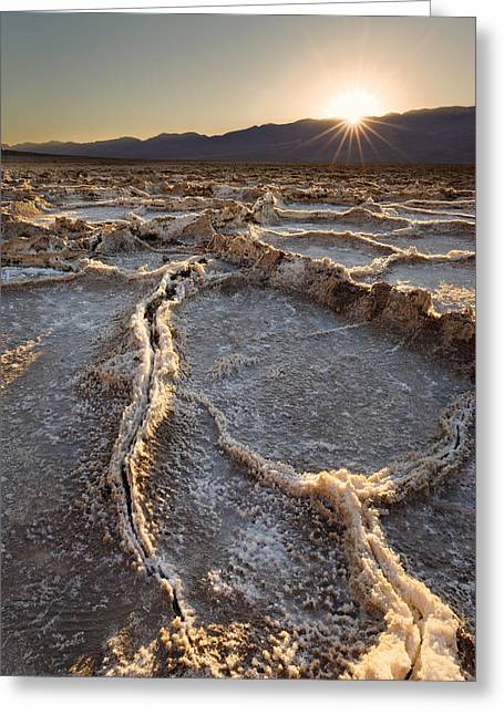 Death Valley - White Ocean Greeting Card