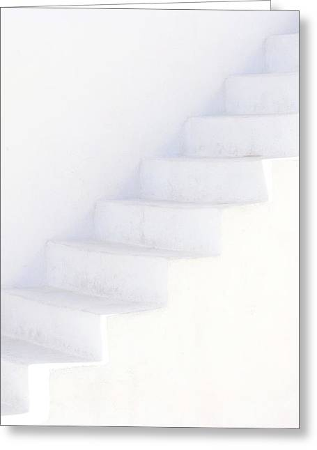 White On White Greeting Card by Lisa Parrish