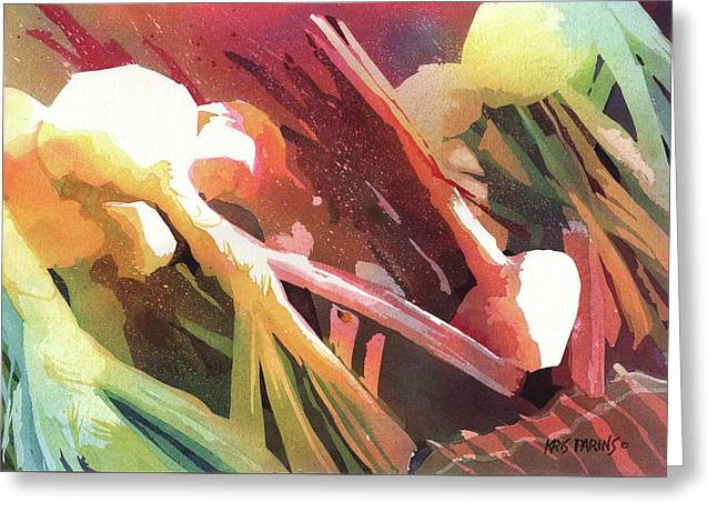 White Onions Greeting Card by Kris Parins