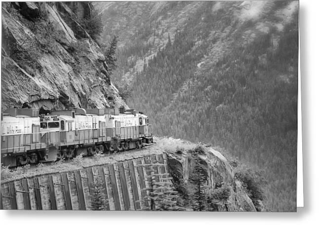White Pass And Yukon Railroad Greeting Card by Vicki Jauron