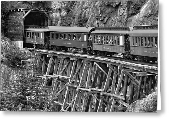White Pass Railway Greeting Card by Dawn Currie