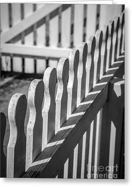 White Picket Fence Portsmouth Greeting Card