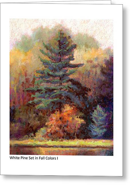 White Pine Set In Fall Colors I Greeting Card