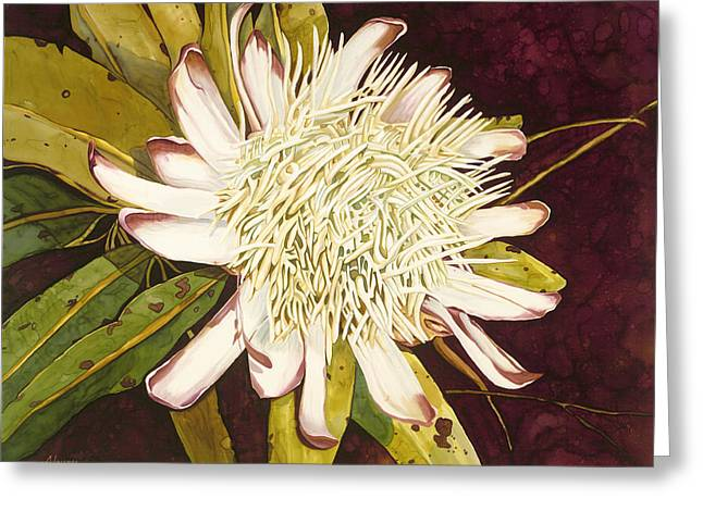 White Protea Greeting Card