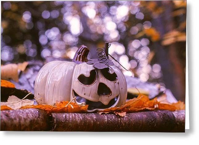 White Pumpkin Greeting Card by Aaron Aldrich