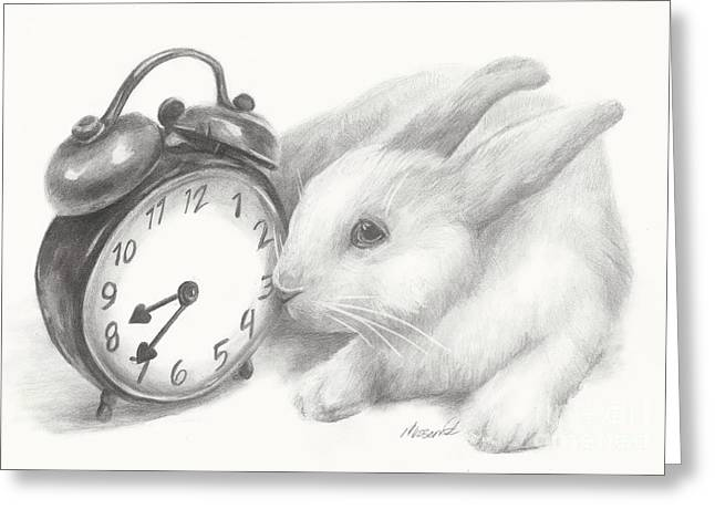 White Rabbit Still Life Greeting Card