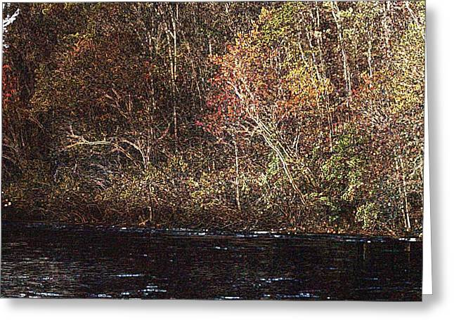 Greeting Card featuring the photograph White River by Donna Smith