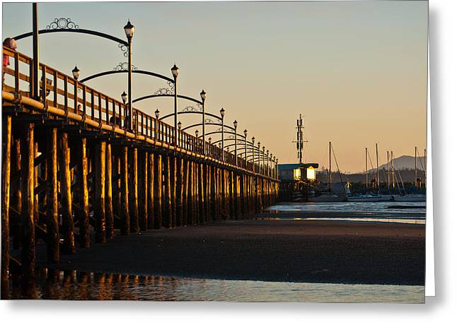 Greeting Card featuring the photograph White Rock Pier by Sabine Edrissi