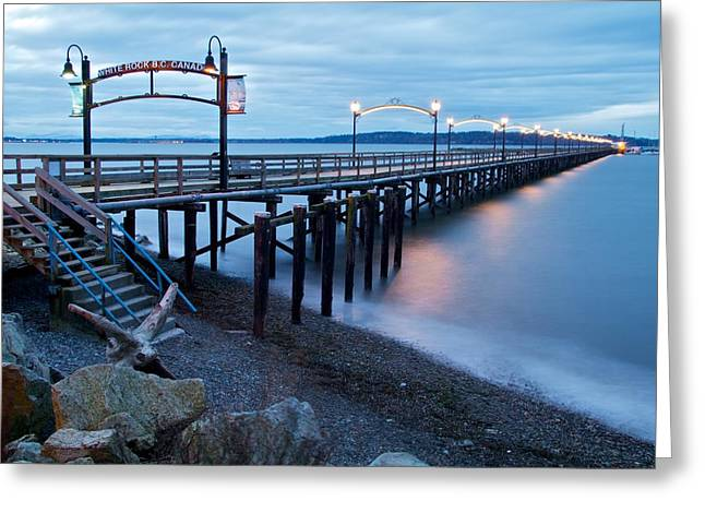 White Rock Pier Greeting Card by Scott Holmes