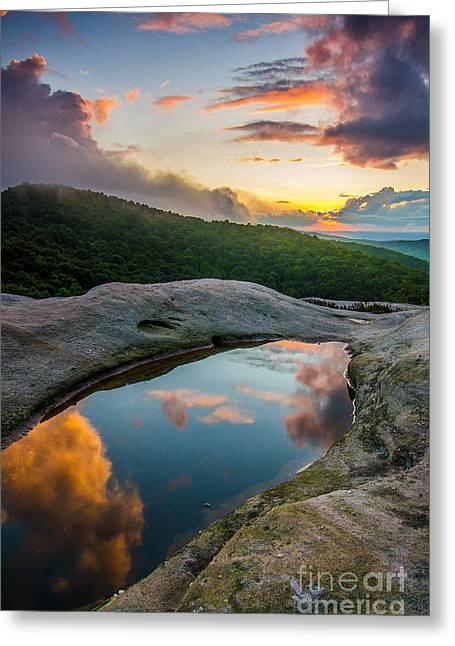 White Rocks Sunset Greeting Card