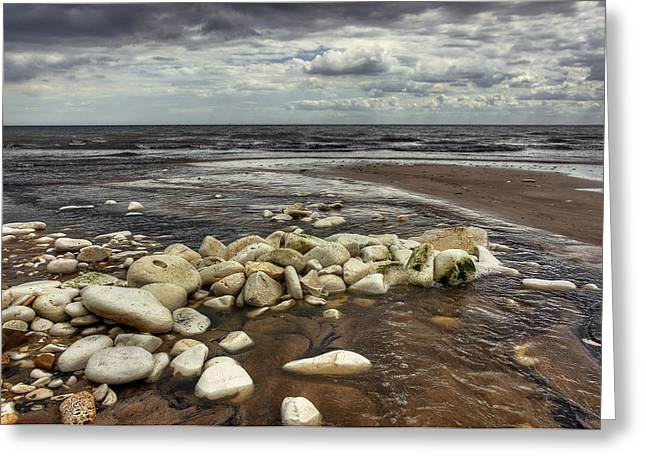 White Rocks Greeting Card by Svetlana Sewell