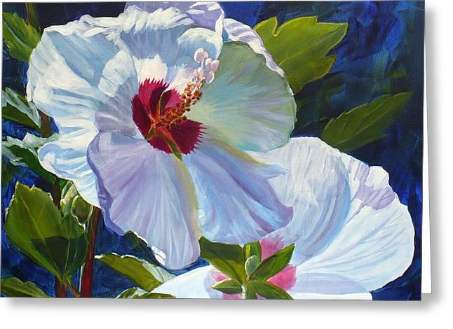 White Rose Of Sharon Greeting Card