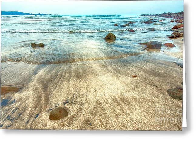 White Sand Beach Greeting Card